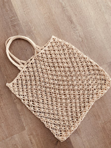 Macrame Handmade Shopper Tote Natural