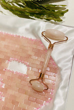 Load image into Gallery viewer, Rose Quartz Facial Massage Roller - LuckyLuLuAust