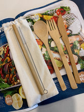 Load image into Gallery viewer, Eco Bamboo Cutlery Set