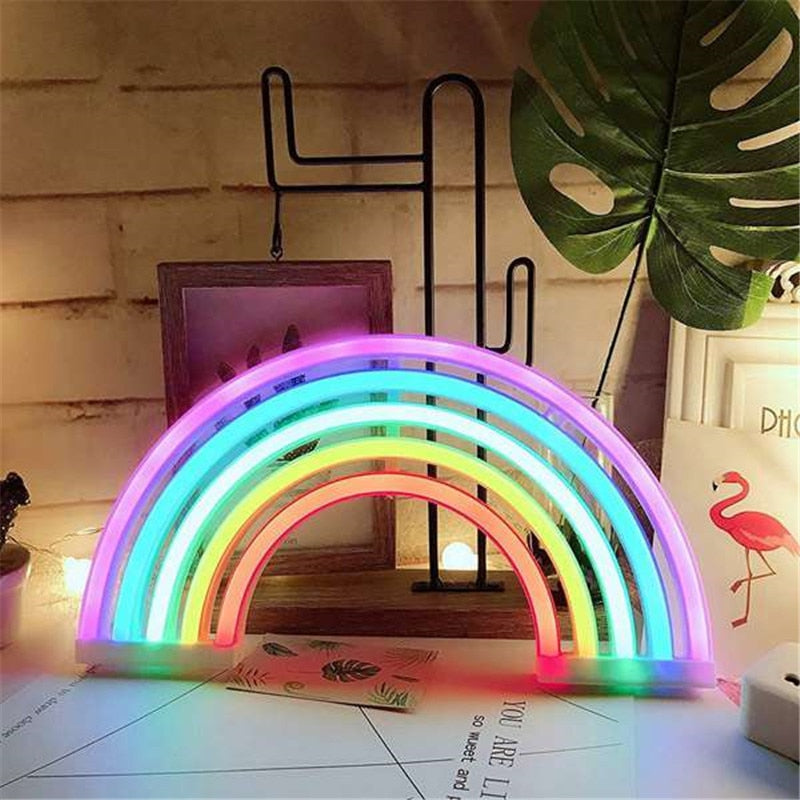 Rainbow Neon LED Light with USB or battery power - LuckyLuLuAust