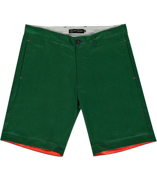 Stitched shorts Man O'War khaki green shorts