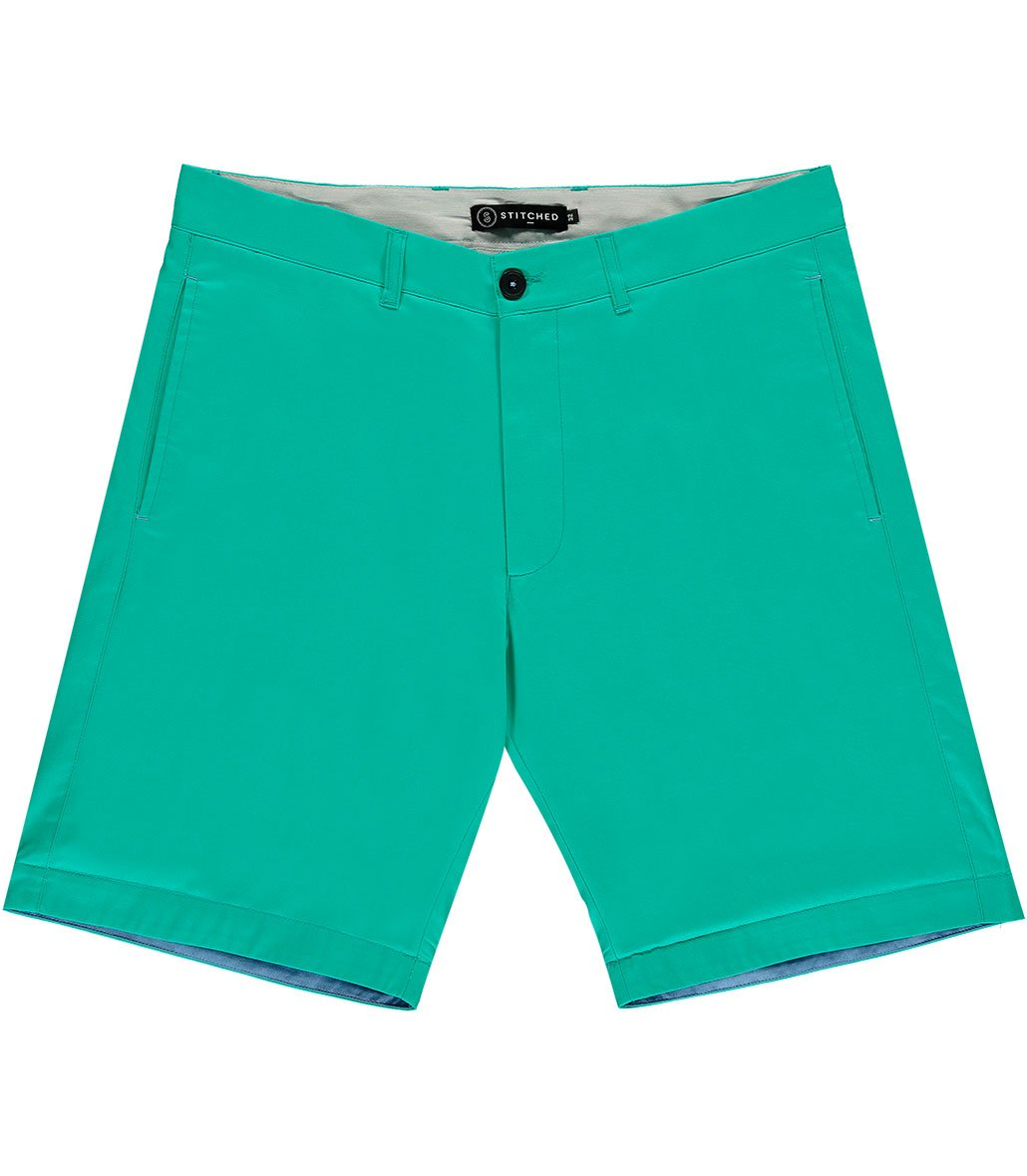 The Basil's Aqua Cotton Shorts