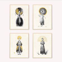 "Load image into Gallery viewer, A set of 8 prints for ""Four Seasons"" Limited Edition by Dat"