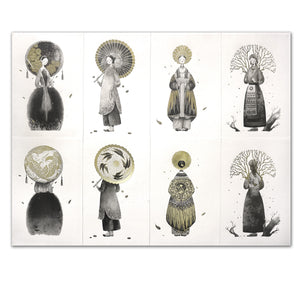 "A set of 8 prints for ""Four Seasons"" Limited Edition by Dat"