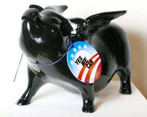 Flying Pig - Black lacquer