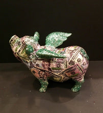 Load image into Gallery viewer, Flying Pig: One of a kind - US Currency Flying Pig