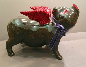 Flying Pig: One of a kind - Valentine's Flying Pig