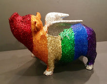 Load image into Gallery viewer, Flying Piggy Bank: One of a kind - LGBT Flying Pig