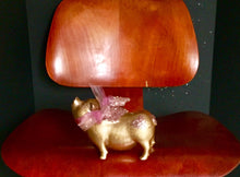 Load image into Gallery viewer, Flying Pig: One of a kind - Gold Flying Pig w/ glitter