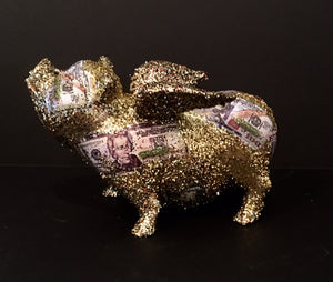 Flying Pig: One of a kind - US Currency Flying Pig
