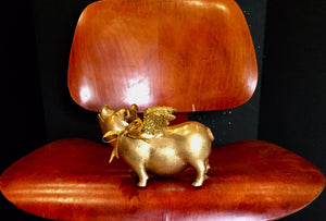 Flying Pig: One of a kind - Gold Flying Pig w/ glitter