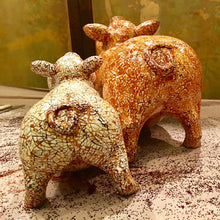 Load image into Gallery viewer, Pig without wings - Crushed Eggshells Inlaid