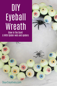 Are you ready to make a spooky wreath? We are sharing our DIY Eyeball Wreath with easy to follow instructions for how to make an Eyeball Wreath for Halloween