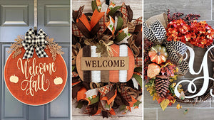 Oh no, another collection of handmade fall wreath designs? Hey, we all love fall and seriously, the color palette that fall brings to the table is just so irresistible