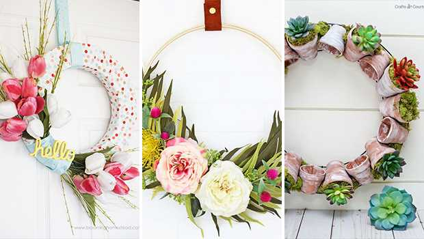 It is time to refresh your front door with a brand new DIY spring wreath that will attract everybody's gaze