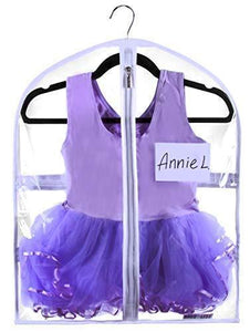Save small clear dance garment bag 19 inch x 24 inch suit dress and costumes hanging travel storage for clothes shoes and accessories water resistant organizer