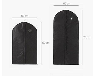 Home garment bags suit bags with clear window for clothes storage and travel hanging suit uniform dance costumes dress and other important garments 3 pack black 128cm x 60cm 50 4x 23 6in