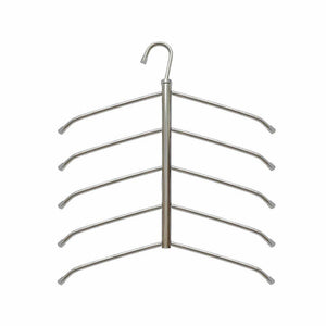 Suzeda 5 Tier Stainless Steel Blouse Tree Hanger Closet Organizer (6-Pack)