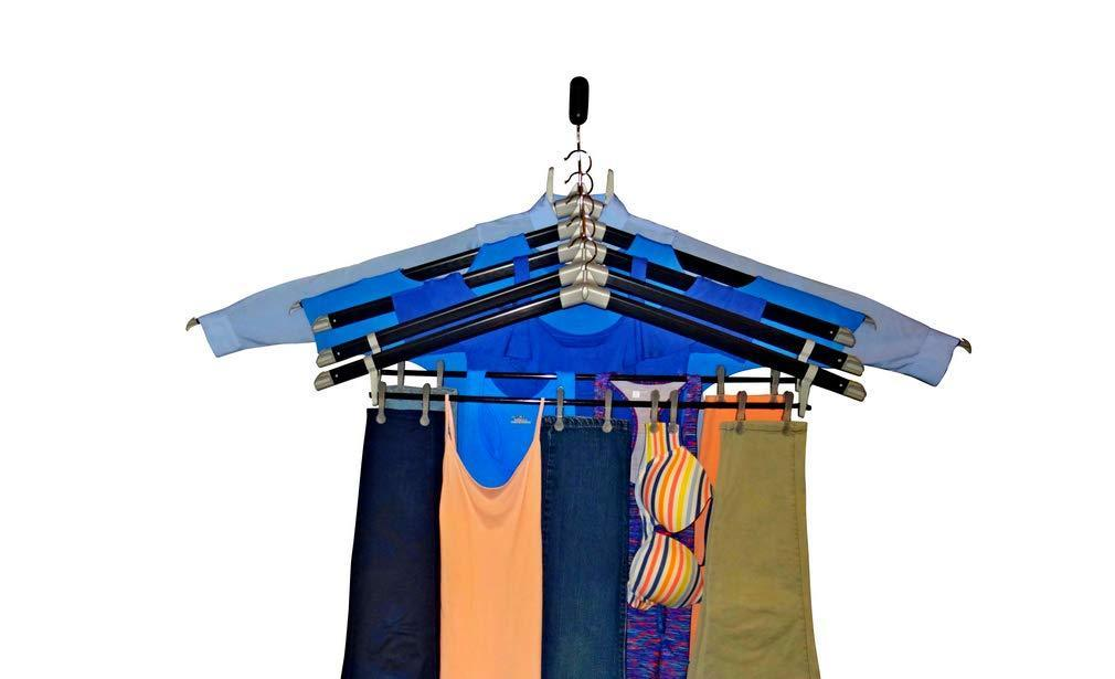 Products the laundry butler clothes drying rack hangers for laundry 5 extendable cascading hangers accessories for draping flat drying line drying of clothes and laundry laundry room deluxe