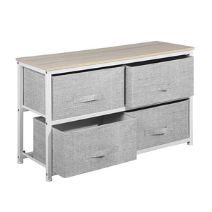 The best aingoo dresser storage 4 drawers storage bedroom steel frame fabric wide dressers drawers for clothes grey wood board 2x2 drawers grey