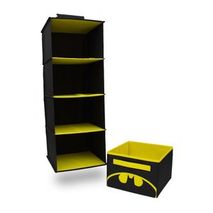 Buy everything mary col batman 4 shelves clothing closet and bedroom dc comics towel accessory storage collapsible hanging organizer