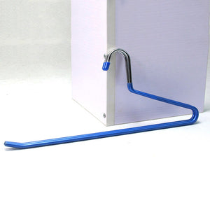 THEE Non Slip Open-Ended Slack Pants Hanger Clothes Hanger Easy Slide Trousers Hanger Set of 12 Blue