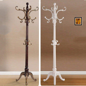 Budget european style solid wood coat racks indoor landing bedroom hangers modern assembly home clothes hanger 180cm color brown