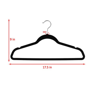 Exclusive topgalaxy z velvet suit hangers 20 pack closet clothes hangers non slip hangers for coat hanger pants hangers dorm hangers black