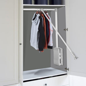 Products estink wardrobe hanger lift pull down wardrobe rail adjustable width wardrobe clothes hanging rail soft return space saving adjustable 19 29 25inch
