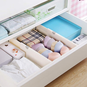 Great normei drawer dividers 11 17 expandable adjustable dresser drawer organizers divider for clothes silverware and utensils fit kitchen bedroom bookcase baby drawer with instructions 8 pack
