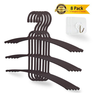 Try upra shirt hangers space saving plastic 5 pack durable multi functional non slip clothes hangers closet organizers for coats jackets pants dress scarf dorm room apartment essentials