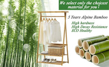 Get copree bamboo garment coat clothes hanging heavy duty rack with top shelf and 2 tier shoe clothing storage organizer shelves