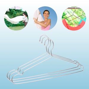 "Jetdio 17.7"" Stainless Steel Strong Metal Wire Hangers Clothes Hangers, Coat Hanger, Standard Suit Hangers, Everyday Use Hangers, 30 Pack"