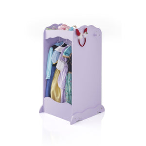 Top guidecraft dress up cubby center lavender kids clothing storage rack costume shoes wardrobe with mirror and side hooks standing closet for toddlers