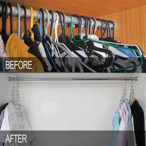 Shop here meetu space saving hangers magic wonder cloth hanger metal closet organizer for closet wardrobe closet organization closet system pack of 20