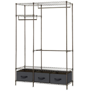 Featured lifewit full metal closet organizer wardrobe closet portable closet shelves with adjustable legs non woven fabric clothes cover and 3 drawers sturdy and durable large size