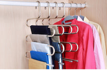 Visionhome S Type 5 Layer Stainless Steel Hanger with Multi-Purpose for Pants Cloths Tie Scarf 10Pack