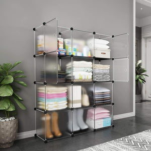 Organize with kousi storage storage cubes storage shelves clothes storage room organizer storage shelves shelves for storage cubby shelving cube storage bookshelf transparent white 12 cubes storage