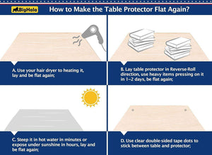 Amazon bighala table protector clear plastic tablecloth pvc cover waterproof wipeable vinyl cloths pad for rectangle dining tables living room coffe table mat furniture topper protector 40 x 78 inch