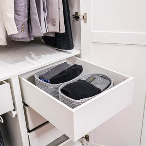 Buy now goodpick cute cotton rope basket dresser baskets drawer baskets organizer nursery closet storage foldable cloth storage box underwear organizer drawer divider 12 7 5 set of 2