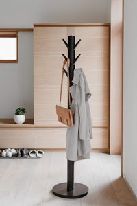 Featured umbra flapper coat rack clothing hanger umbrella holder and hat organizer great for entryway black walnut