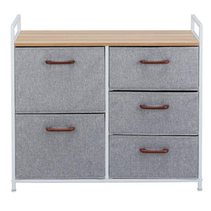 Buy now maidmax storage cube dresser home dresser storage tower constructed by painted steel wooden top and 5 foldable cloth storage cubes gray