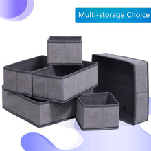 Explore onlyeasy foldable cloth storage box closet dresser drawer organizer cube basket bins containers divider with drawers for scarves underwear bras socks ties 6 pack linen like grey mxdcb6p