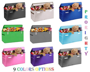 Results prorighty collapsible toy chest for kids xx large storage basket w flip top lid toys organizer bin for bedrooms closets child nursery store stuffed animals games clothes purple