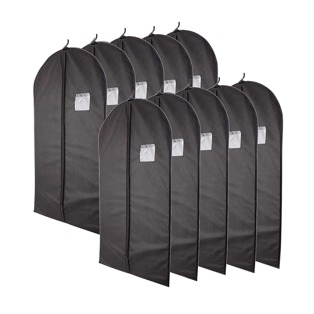 Amazon best plixio 40 black garment bags for clothing storage of suits dresses dance costumes includes zipper transparent window 10 pack