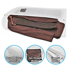 Buy plixio 40 travel garment bags for clothing storage of suits dresses dance costumes hanging clothes bag with window and zipper 10 pack