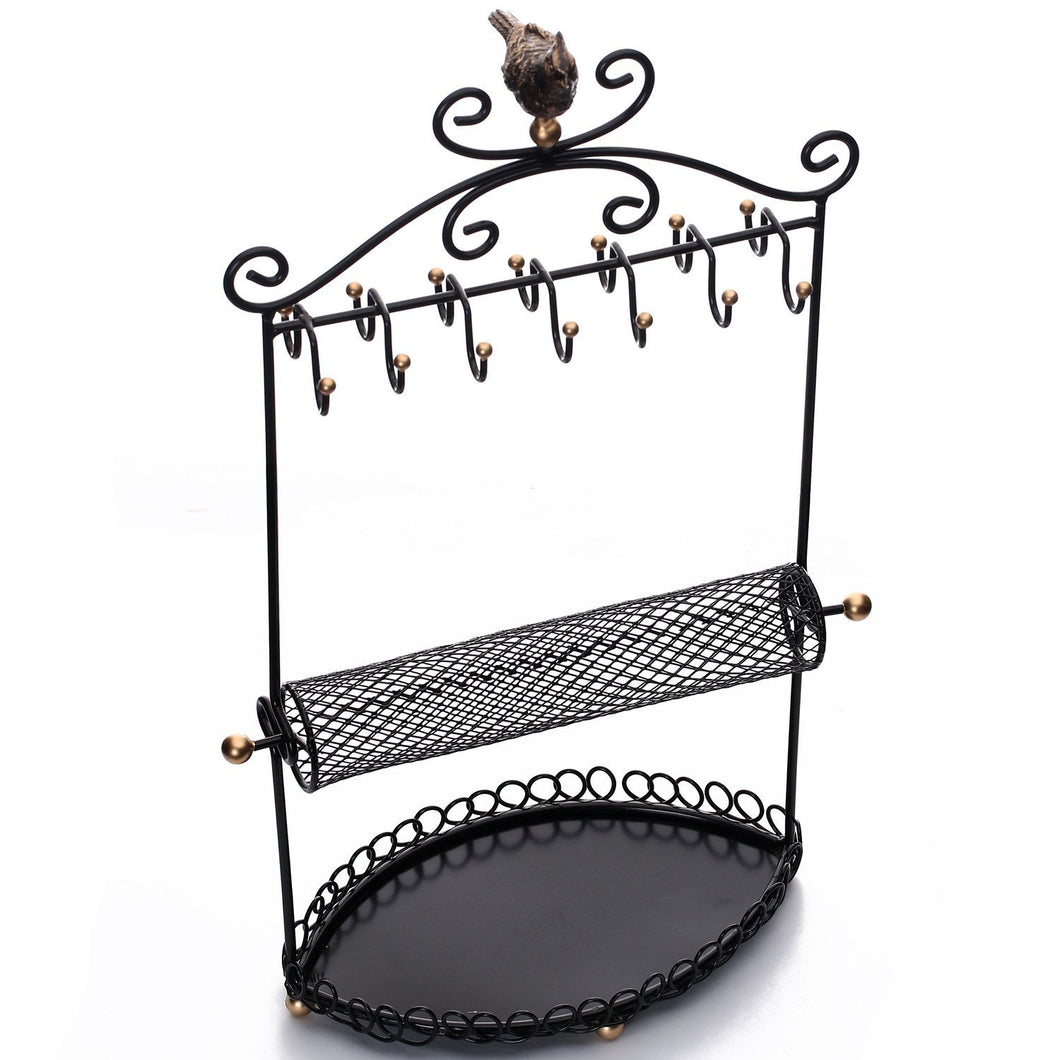 #COP3684BK Metal Jewelry Display Jewelry Stand Hanger Organizer