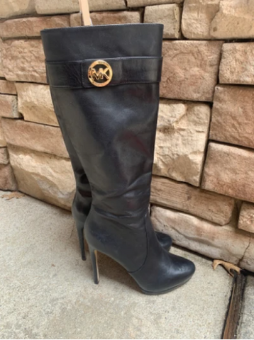 leather knee length boots