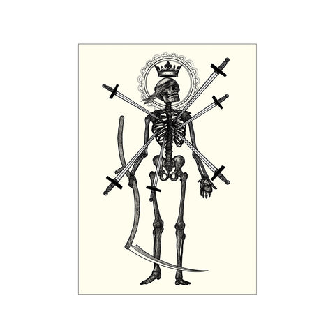 Death Skeleton Print - abandon-ship-art
