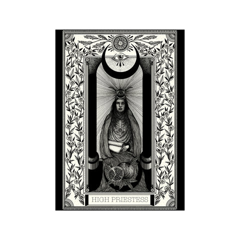 High Priestess Tarot Premium Large Print - abandon-ship-art